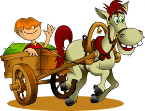 Your easy cart with horse power